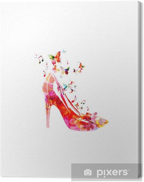 Obraz na płótnie Kolorowe tło wektor z kolibry buty - Naklejki na ścianę