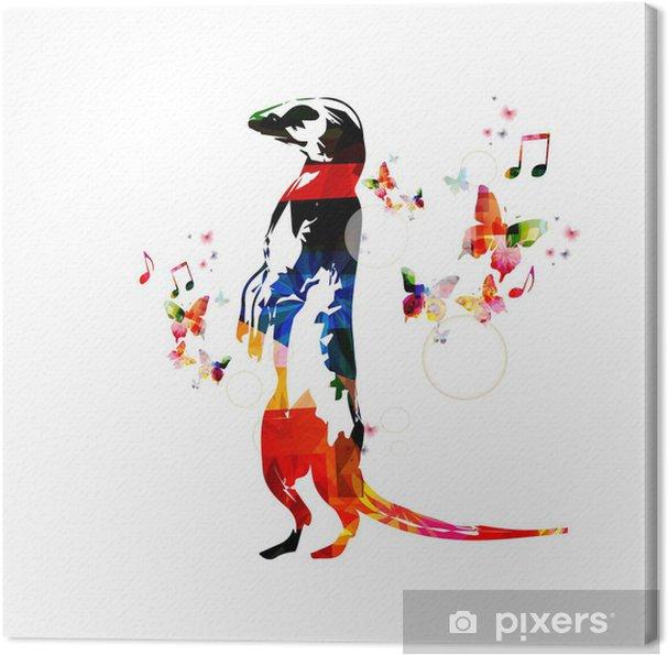 Obraz na płótnie Kolorowe wektora Surykatka tło z motyli - Naklejki na ścianę