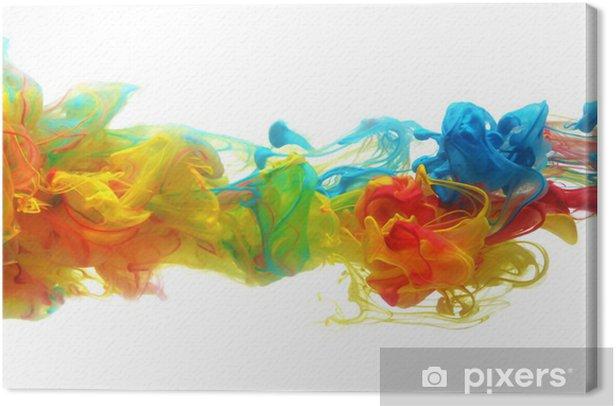 Obraz na płótnie Kolorowy atrament w wodzie - Naklejki na ścianę