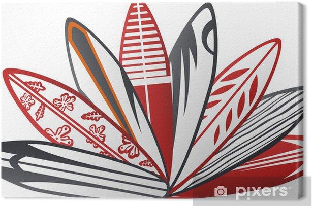 Obraz na płótnie Kolorowy deska surfingowa 2 - Wakacje