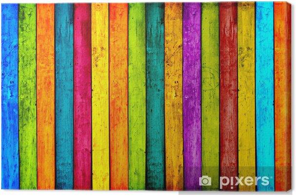 Obraz na płótnie Kolorowych desek tle -