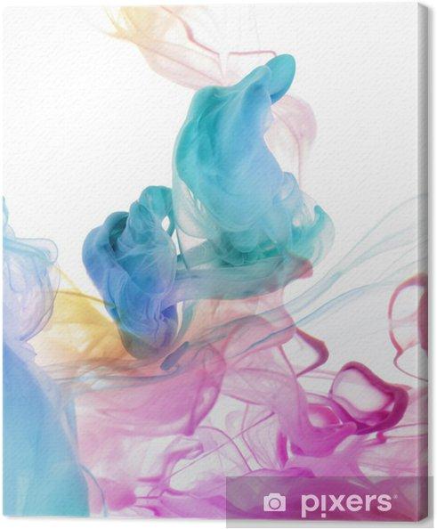 Obraz na płótnie Kolory akrylowe w wodzie. abstrakcyjne tło. -