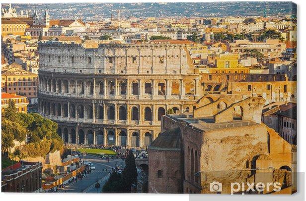 Obraz na płótnie Koloseum o zachodzie słońca - Tematy