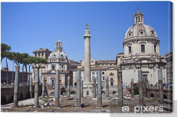 Obraz na płótnie Kolumna Trajana i Najświętszego Imienia Maryi na Forum - Miasta europejskie