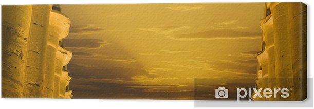 Obraz na płótnie Kolumnada świątyni Luxor o zachodzie słońca - Afryka