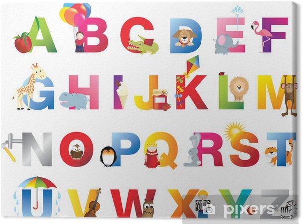 Obraz na płótnie Kompletne Alfabet dla dzieci - Tematy