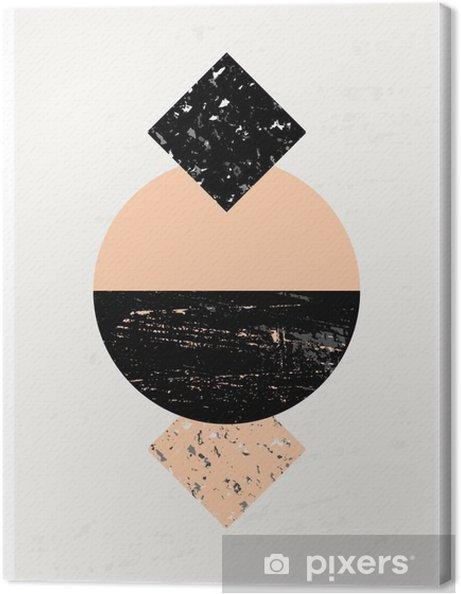 Obraz na płótnie Kompozycja abstrakcyjna geometrycznej - Zasoby graficzne