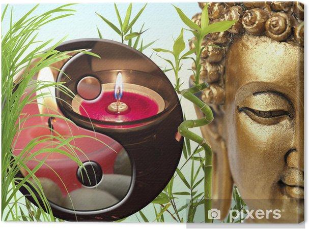 Obraz na płótnie Kompozycja zen, Bouddha, yin yang, bambusa - Buddyzm