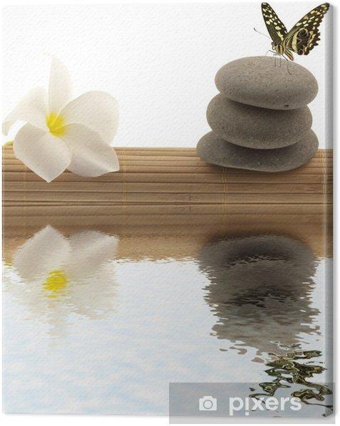 Obraz na płótnie Koncepcja relaksacji, Motyl, frangipani rolki - Kwiaty