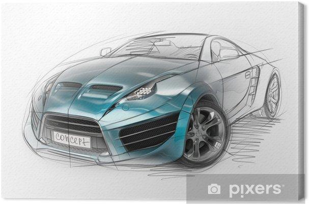 Obraz na płótnie Koncepcji szkic samochodu. oryginalny design samochodu. - Transport drogowy
