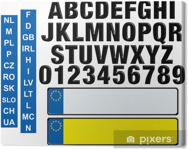 Obraz na płótnie Konfigurowalny tablicy rejestracyjnej - Znaki i symbole