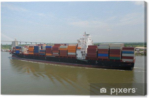 Obraz na płótnie Kontenerowiec Cargo W Savannah Georgia USA - Transport wodny