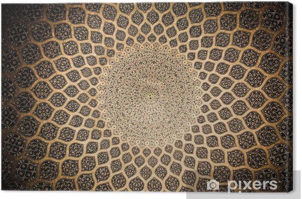 Obraz na płótnie Kopuła meczetu, orientalne ornamenty z Isfahan, Iran - Bliski Wschód