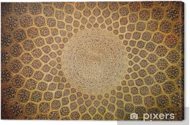 Obraz na płótnie Kopuła meczetu, orientalne ornamenty z Isfahan, Iran - Style