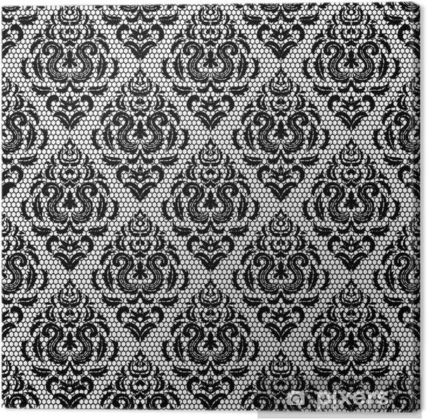 Obraz na płótnie Koronki kwiatowy wzór - Tła