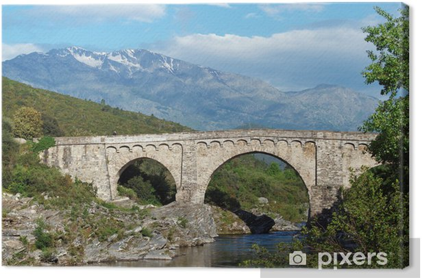 Obraz na płótnie Korsyka, Genueńczyków w Cortenais most - Europa