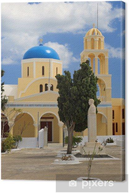 Obraz na płótnie Kościół Agios Georgios w Oia, Santorini - Europa