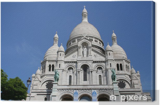 Obraz na płótnie Kościół Sacre Coeur w Paryżu - Miasta europejskie