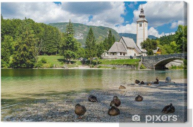 Obraz na płótnie Kościół św Jana Chrzciciela, jeziora Bohinj, Słowenia - Europa