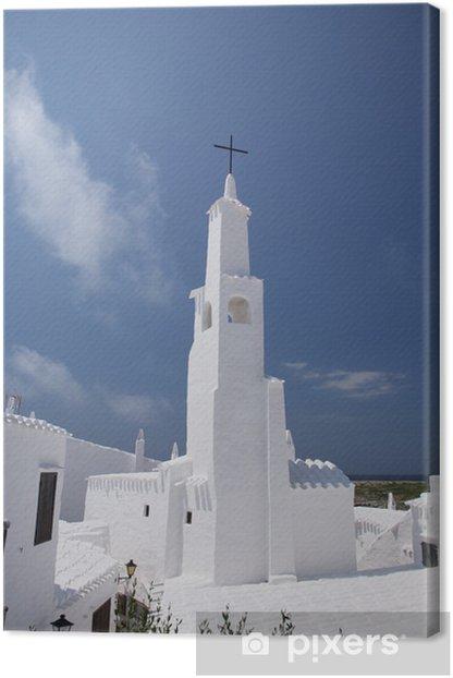Obraz na płótnie Kościół w Menorca Binibeca - Europa
