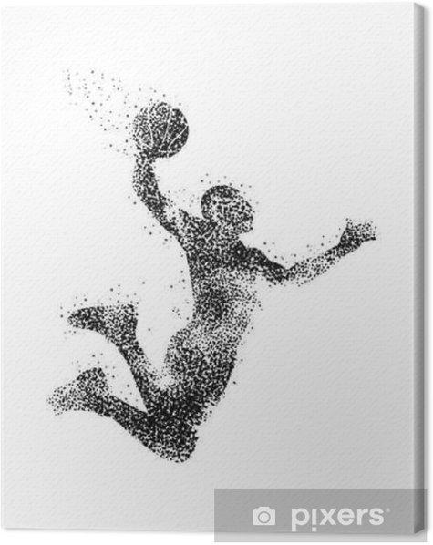 Obraz na płótnie Koszykarz sylwetka - Sport