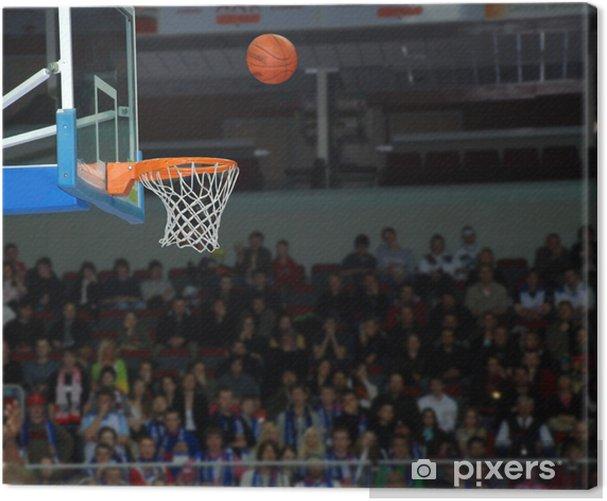 Obraz na płótnie Koszykówka, dokładny rzut piłką do kosza - Sporty drużynowe