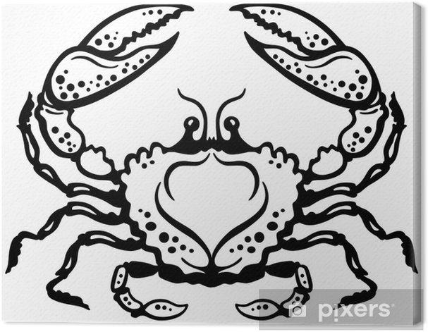 Obraz na płótnie Kraba czarny biały - Fikcyjne zwierzęta