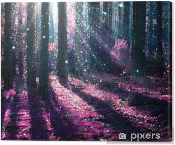 Obraz na płótnie Krajobraz fantasy. tajemniczy stary las. - iStaging