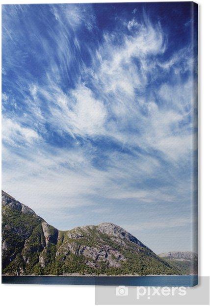 Obraz na płótnie Krajobraz fiordów Norwegii - Europa