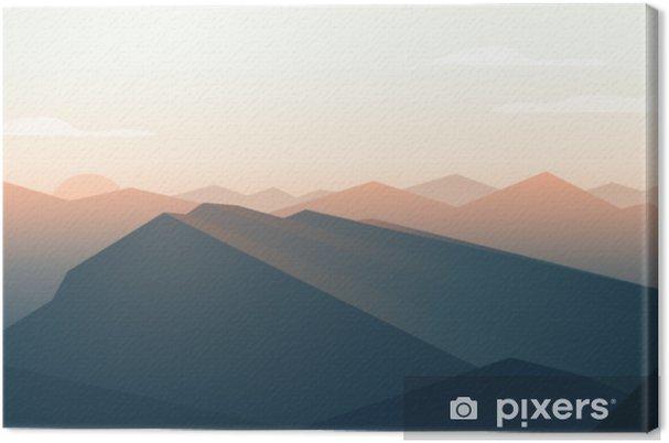 Obraz na płótnie Krajobraz gór. zachód słońca - Krajobrazy