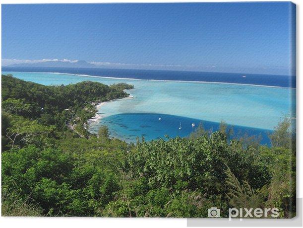 Obraz na płótnie Krajobraz laguny Bora-Bora - Oceania