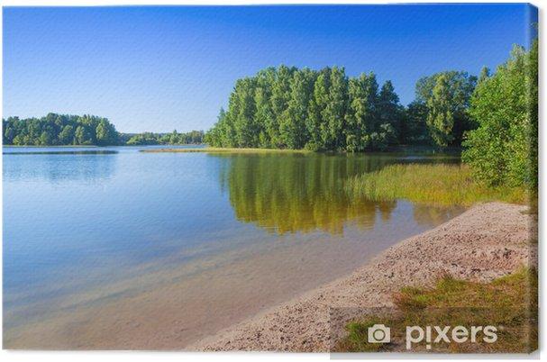 Obraz na płótnie Krajobraz Lato nad jeziorem w Polsce - Pory roku