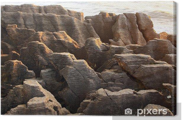 Obraz na płótnie Krajobraz Pancake wielkiego kanionu skały na plaży na zachodnim wybrzeżu Nowej Z - Oceania