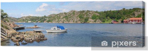 Obraz na płótnie Krajobraz Panorama szwedzkiego fiord morza - Wakacje