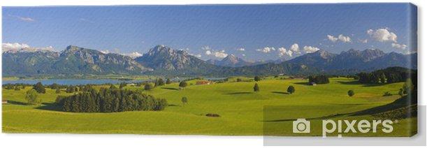 Obraz na płótnie Krajobraz panorama w Bawarii z Alp - Panorama