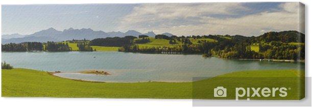 Obraz na płótnie Krajobraz panorama w Bawarii - Pory roku
