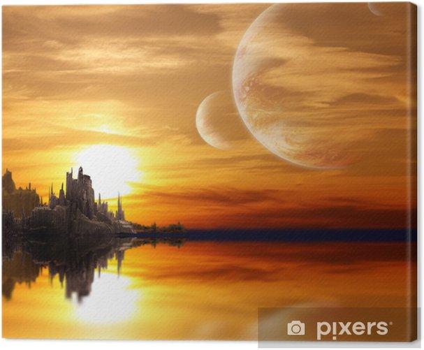 Obraz na płótnie Krajobraz w planety fantazji - Ezoteryka