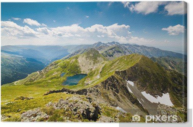Obraz na płótnie Krajobraz z Fagaras w górach w Rumunii - Europa