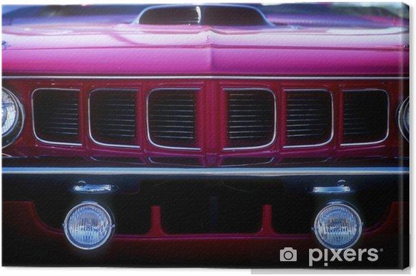 Obraz na płótnie Krata z purpurowej muscle car - Tematy