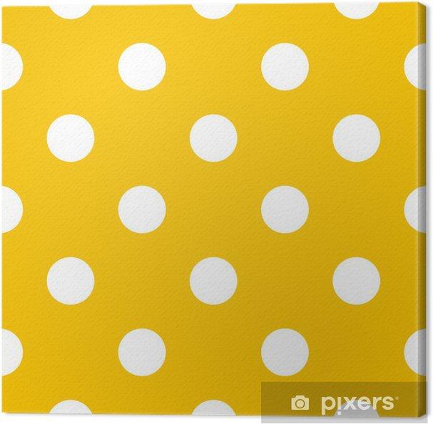 Obraz na płótnie Kropki na żółtym tle wektor retro szwu - Tematy