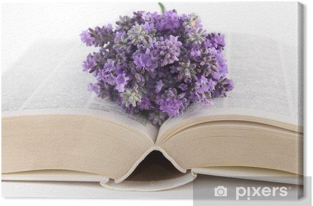 Obraz na płótnie Książka z lawendy - Inne przedmioty