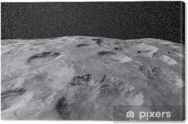 Obraz na płótnie Księżyc 090112 01 - Przestrzeń kosmiczna