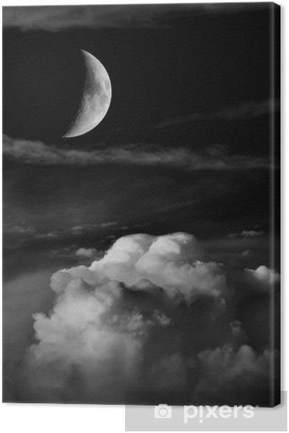 Obraz na płótnie Księżyc i chmury - Inne pejzaże