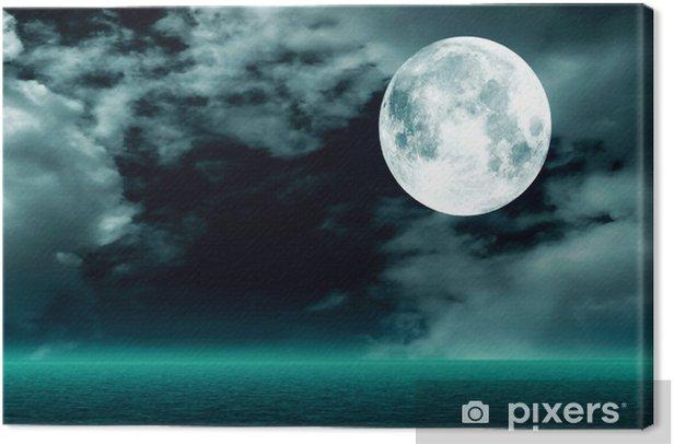 Obraz na płótnie Księżyc w pełni na niebie odbicie w wodzie - Tematy