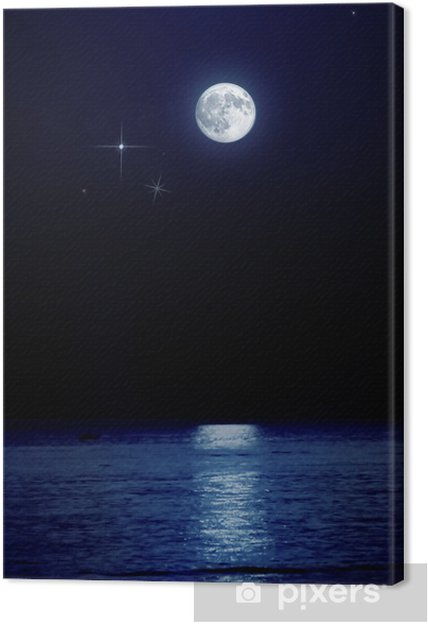 Obraz na płótnie Księżyc w pełni nad morzem - Tematy