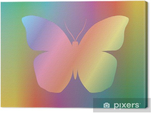 Obraz na płótnie Kształt motyla na tle widma abstrakcyjna - Inne Inne