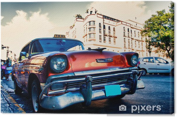 Obraz na płótnie Kubańska stare samochody - Tematy