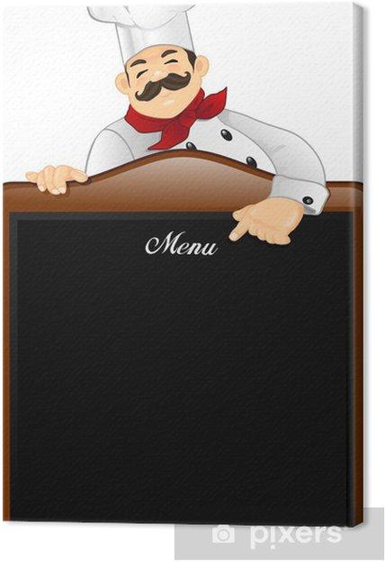 Obraz na płótnie Kucharz z tablicy - Posiłki