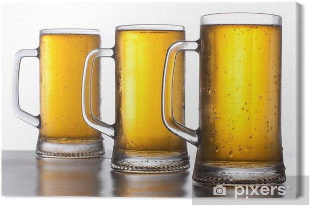 Obraz na płótnie Kufle do piwa - Alkohol