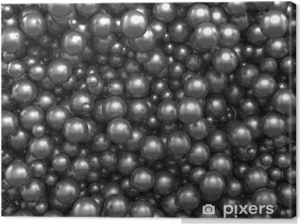 Obraz na płótnie Kulki abstrakcyjne tło czarny kawior - Nauki stosowane i ścisłe